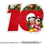 Topo de bolo Natal Mickey e Minnie 10