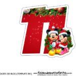 Topo de bolo Natal Mickey e Minnie 11