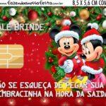 Vale Brinde Kit Festa Natal Mickey e Minnie