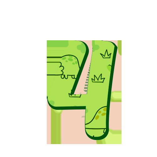 4 Numeros Dinossauro Baby