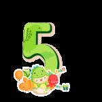 5 numeros Dinossauro Baby especial
