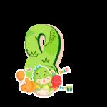 8 numeros Dinossauro Baby especial