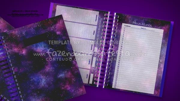 Caderno de Planejamento Galaxia Lilas