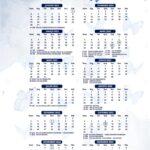 Calendario 2022 Borboleta Azul