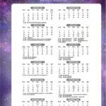 Calendario 2022 Galaxia