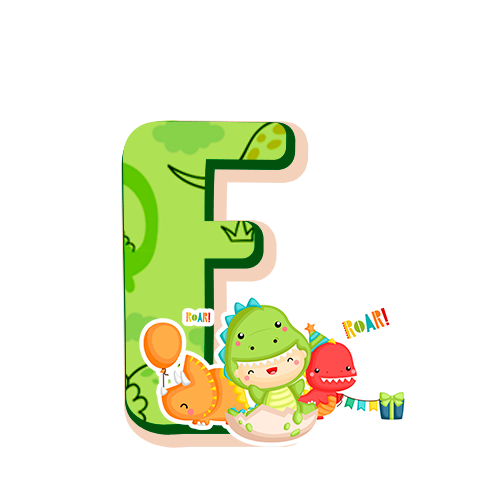 E Letras Dinossauro Baby especial