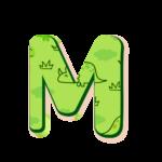 M Letras Dinossauro Baby