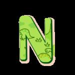 N Letras Dinossauro Baby
