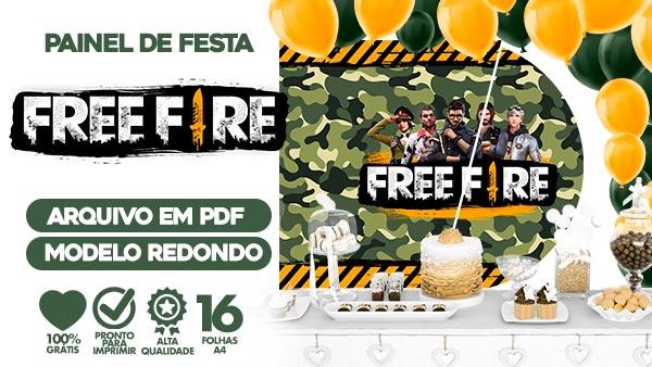 Painel Festa Free Fire gratis