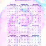 Planner Professor 2021 Tie Dye Calendario 2021