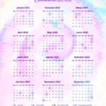 Planner Professor 2021 Tie Dye Calendario 2022