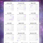 Planner Professor Galaxia Lilas Calendario Professor 2