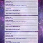 Planner Professor Galaxia Lilas Dados dos Alunos