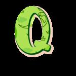Q Letras Dinossauro Baby