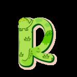 R Letras Dinossauro Baby