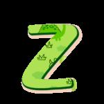 Z Letras Dinossauro Baby