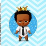 Adesivo Caixa Acrilica Kit Festa Poderoso Chefinho Afro