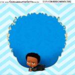 Adesivo Marmitinha Personalizada Kit Festa Poderoso Chefinho Afro