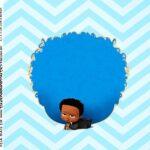 Adesivo Quadrado Poderoso Chefinho Afro