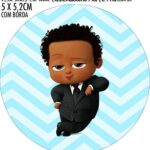 Adesivo copo de acrilico Kit Festa Poderoso Chefinho Afro