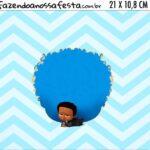 Adesivo para Cofrinho Kit Festa Poderoso Chefinho Afro