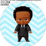 Adesivo para garrafinha Kit Festa Poderoso Chefinho Afro