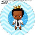 Adesivo redondo Poderoso Chefinho Afro