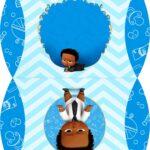 Caixa Almofada bolsinha Poderoso Chefinho Afro