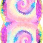 Caixa Almofada bolsinha Tie Dye