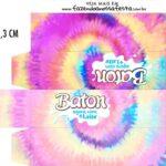 Caixa Baton Tie Dye