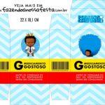 Caixinha de Remedio Personalizada Poderoso Chefinho Afro