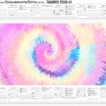 Calendario Personalizado 2020 Tie Dye