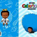 Capa Livrinho para Colorir Poderoso Chefinho Afro