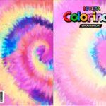 Capa Livrinho para Colorir Tie Dye