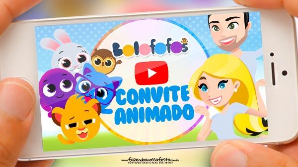Convite Animado Bolofofos