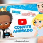Convite Animado Poderoso Chefinho Afro