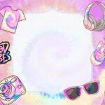 Convite Tie Dye para editar gratis