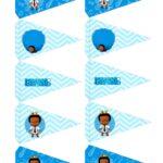 Folha de Bandeirinhas Poderoso Chefinho Afro