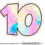 Numero 10 Tie Dye