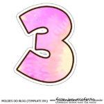 Numero 3 Tie Dye