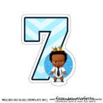 Numeros Poderoso Chefinho Afro 7