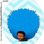 Rotulo Oval Poderoso Chefinho Afro