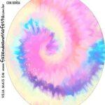 Rotulo Oval Tie Dye