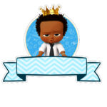 Topo de bolo Poderoso Chefinho Afro