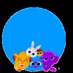 Vogais Bolofofos Azul 2