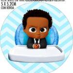adesivo mini baleiro Kit Festa Poderoso Chefinho Afro