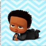caixa de acrilico adesivo personalizado Poderoso Chefinho Afro
