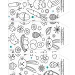 Caixa Explosao Coelhinho para colorir parte 5