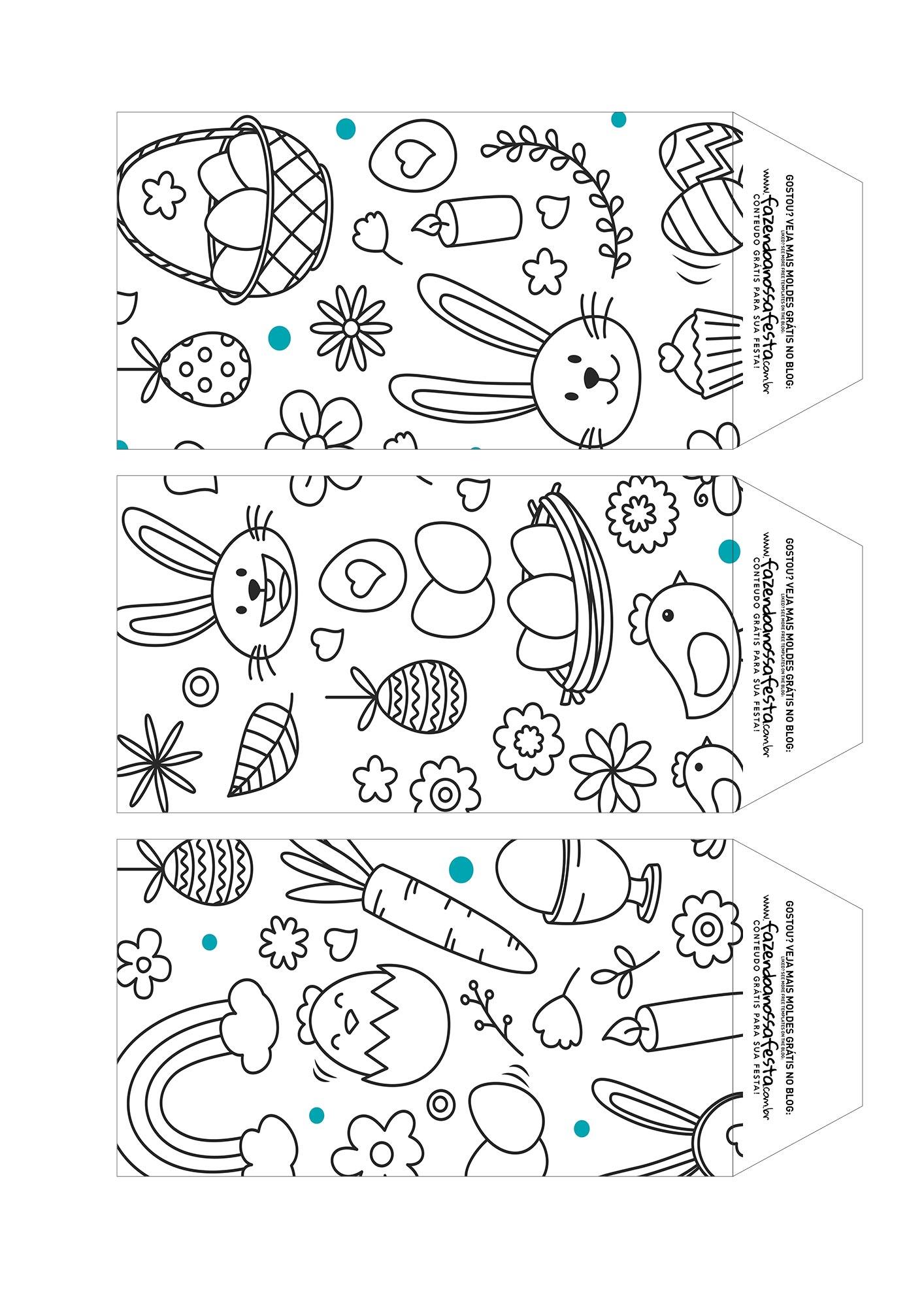 Caixa Explosao Coelhinho para colorir parte 7