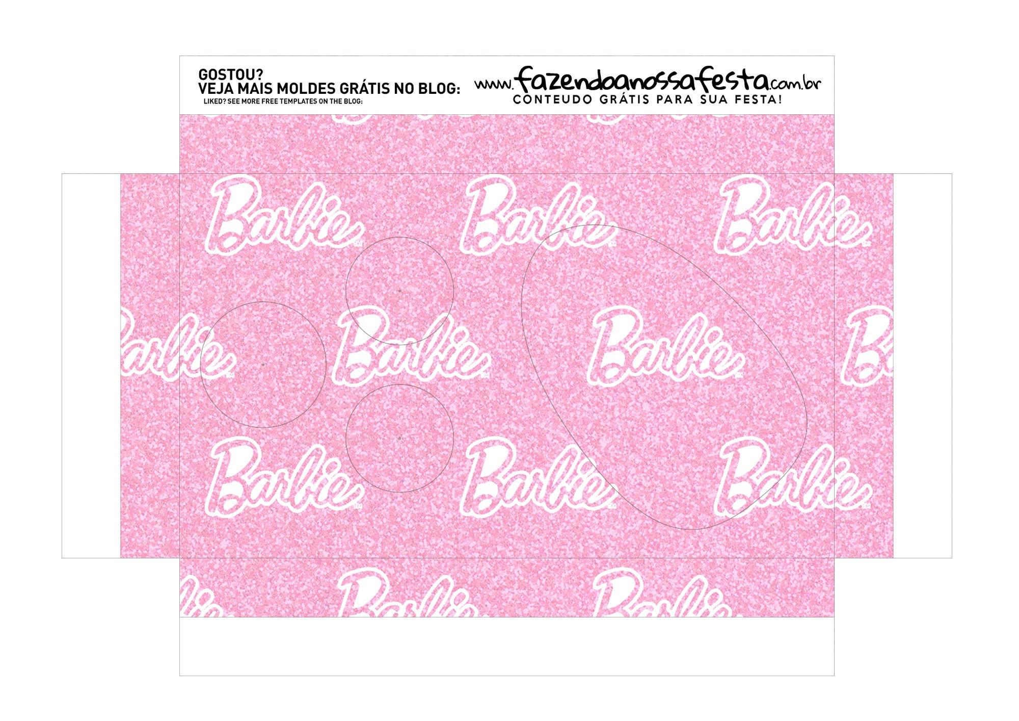 Caixa Explosao Mini Confeiteiro Barbie parte 7
